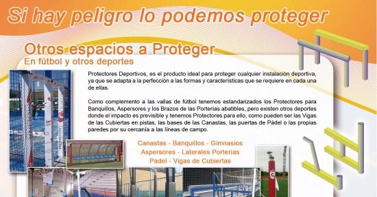 folleto en español protectores deportivos