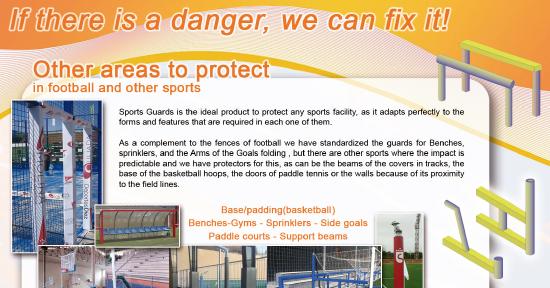 folleto en inglés protectores deportivos